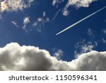 dramatic blue sky with clouds | Shutterstock . vector #1150596341