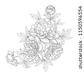 spring flowers bouquet of... | Shutterstock .eps vector #1150596554