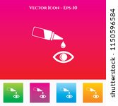 eye drop icon in colored square ... | Shutterstock .eps vector #1150596584