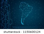 abstract mash line and point... | Shutterstock .eps vector #1150600124