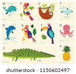 vector cards with alphabet... | Shutterstock .eps vector #1150602497