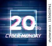 cyber monday sale discount... | Shutterstock . vector #1150603961