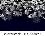 snowfall background. falling... | Shutterstock . vector #1150604057