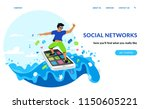 social networking and young... | Shutterstock .eps vector #1150605221