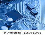 electronic circuit board close... | Shutterstock . vector #1150611911