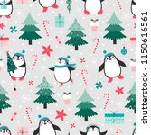 seamless pattern with cute... | Shutterstock .eps vector #1150616561