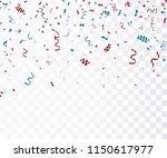 colorful bright confetti... | Shutterstock .eps vector #1150617977