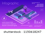 future 3d isometric airport... | Shutterstock .eps vector #1150618247