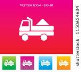 truck icon in colored square...