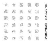 shopping delivery icon set | Shutterstock .eps vector #1150629701