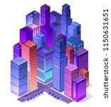 future 3d futuristic isometric... | Shutterstock .eps vector #1150631651