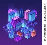 future 3d futuristic isometric... | Shutterstock .eps vector #1150631864
