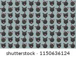 cat emotions pattern | Shutterstock .eps vector #1150636124