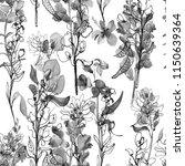 grey flowers. seamless... | Shutterstock . vector #1150639364