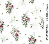 blossom floral seamless pattern.... | Shutterstock .eps vector #1150639637