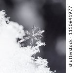 natural snowflakes on snow | Shutterstock . vector #1150641977