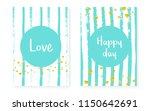 bridal shower card with dots... | Shutterstock .eps vector #1150642691