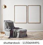 living room interior wall mock... | Shutterstock . vector #1150644491