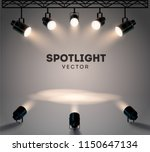 spotlights with bright white... | Shutterstock .eps vector #1150647134