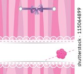 pink card with laces  flower... | Shutterstock .eps vector #115064899