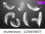 set of isolated falling white... | Shutterstock .eps vector #1150654877
