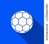 soccer ball icon with shadow  ... | Shutterstock .eps vector #1150666481