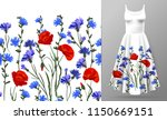 seamless rim. border with herbs ... | Shutterstock .eps vector #1150669151
