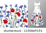 seamless rim. border with herbs ... | Shutterstock .eps vector #1150669151