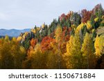autumn landscape with a rock....   Shutterstock . vector #1150671884