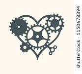 steam punk heart element vector   Shutterstock .eps vector #1150678394