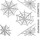 halloween spider web isolated...   Shutterstock . vector #1150687511