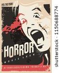horror movie show retro cinema... | Shutterstock .eps vector #1150688774