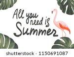 vector hand lettering... | Shutterstock .eps vector #1150691087