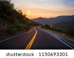 sunset during a wildfire haze... | Shutterstock . vector #1150693301