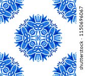 portuguese azulejo tiles. blue... | Shutterstock . vector #1150696067