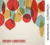 retro christmas card with... | Shutterstock .eps vector #115069624