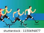 disabled runner prosthesis... | Shutterstock .eps vector #1150696877