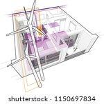 3d illustration of apartment... | Shutterstock .eps vector #1150697834