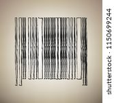 bar code sign. vector. brush... | Shutterstock .eps vector #1150699244