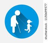 an elderly man  a pensioner... | Shutterstock .eps vector #1150699577