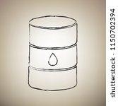 oil barrel sign. vector. brush... | Shutterstock .eps vector #1150702394