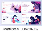 set of web page design... | Shutterstock .eps vector #1150707617