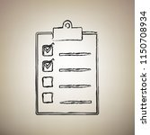 checklist sign illustration.... | Shutterstock .eps vector #1150708934