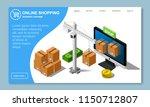 isometric online shopping... | Shutterstock . vector #1150712807