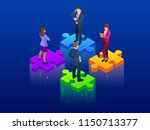 isometric collaboration and...   Shutterstock .eps vector #1150713377