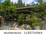 boulders and rock canyon with...   Shutterstock . vector #1150714364