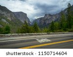pedestrian xing road sign at...   Shutterstock . vector #1150714604