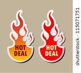 hot deal stickers | Shutterstock .eps vector #115071751