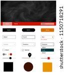 dark red  yellow vector web ui...