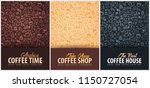 coffee banner with the hand... | Shutterstock .eps vector #1150727054